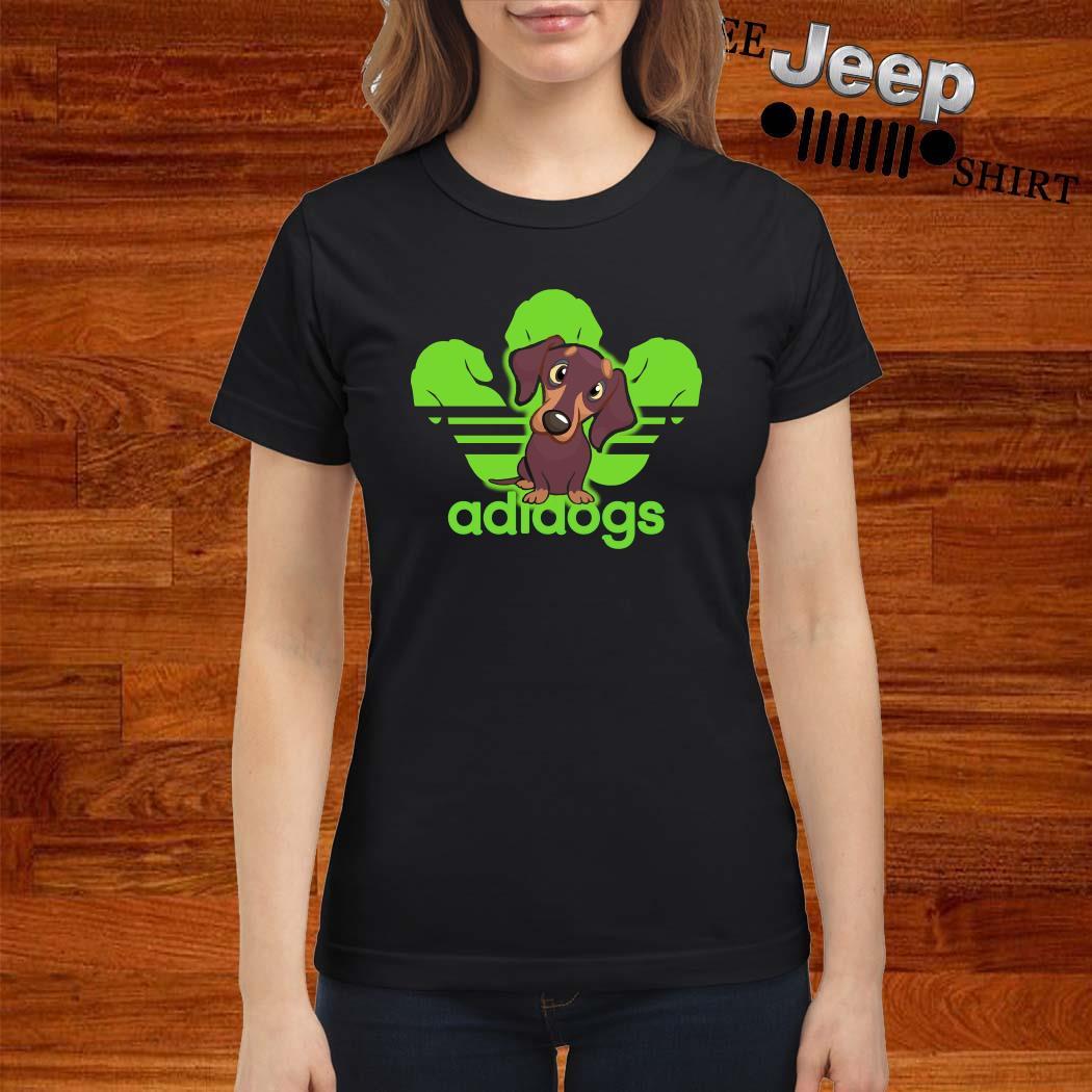 Dachshund Adidas Adidogs Ladies Shirt