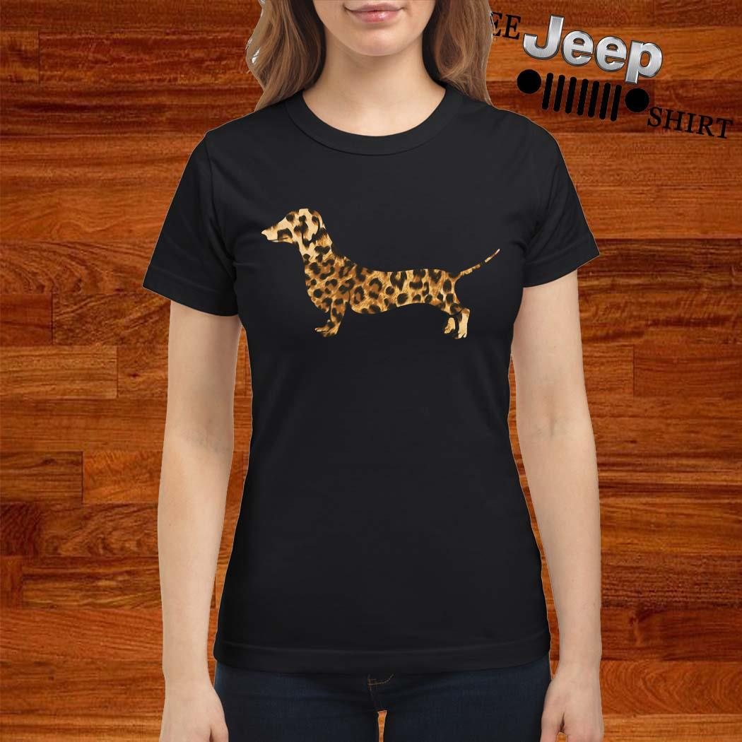 Dachshund Leopard Shirt ladies-shirt