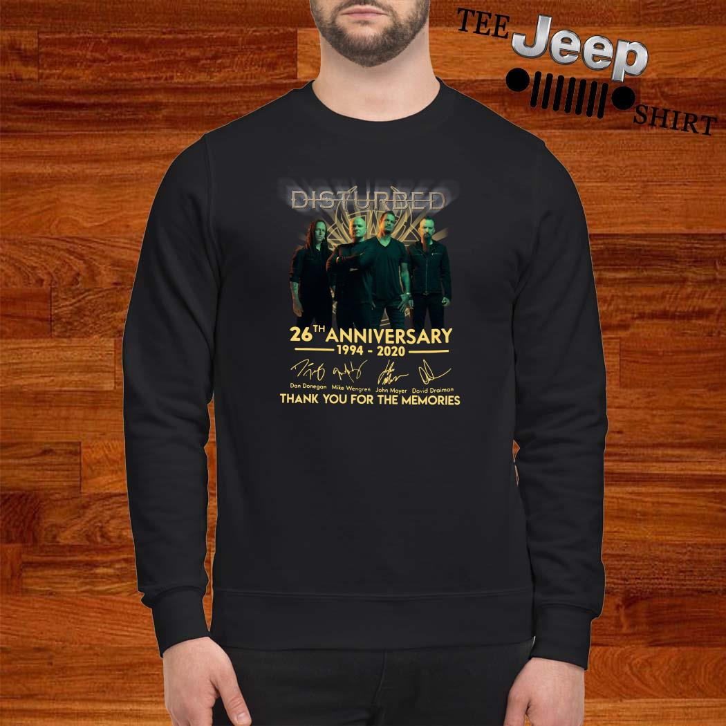 Disturbed 26th Anniversary 1994 2020 Thank You For The Memories Sweatshirt