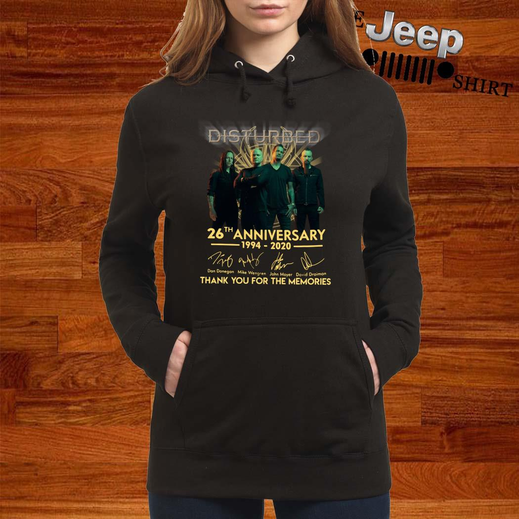 Disturbed 26th Anniversary 1994 2020 Thank You For The Memories Hoodie