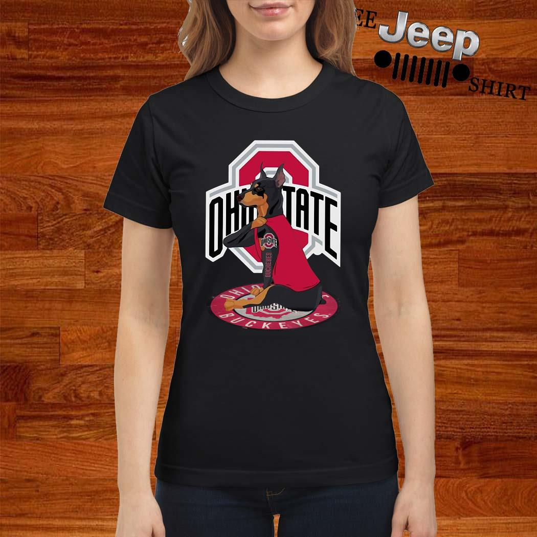 Dobermann Ohio State Buckeyes Ladies Shirt