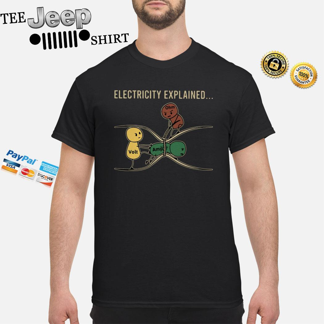 Electricity Explained Electrician Retro Shirt