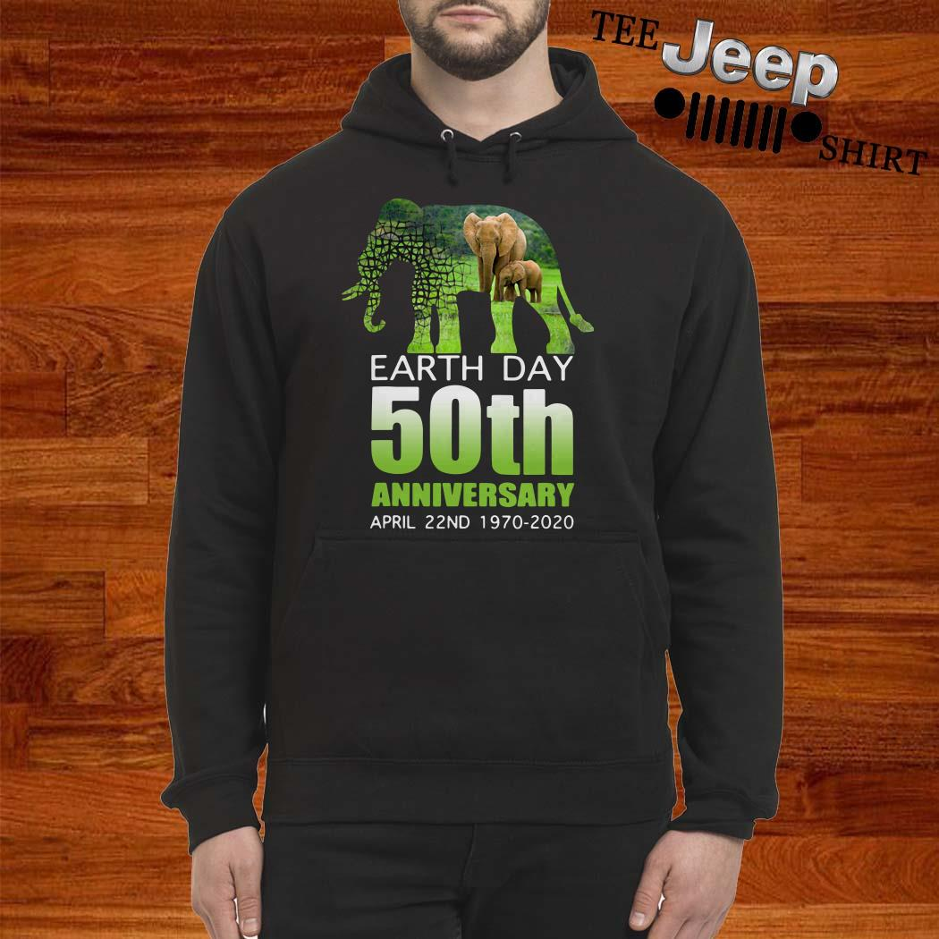 Elephant Earth Day 50 April 22ND 1970 2020 Hoodie