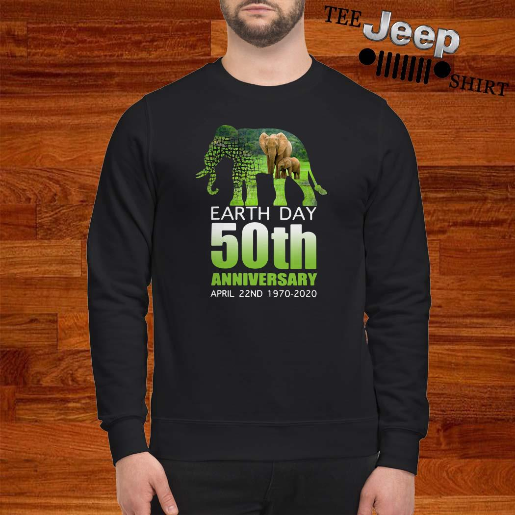 Elephant Earth Day 50 April 22ND 1970 2020 Sweatshirt