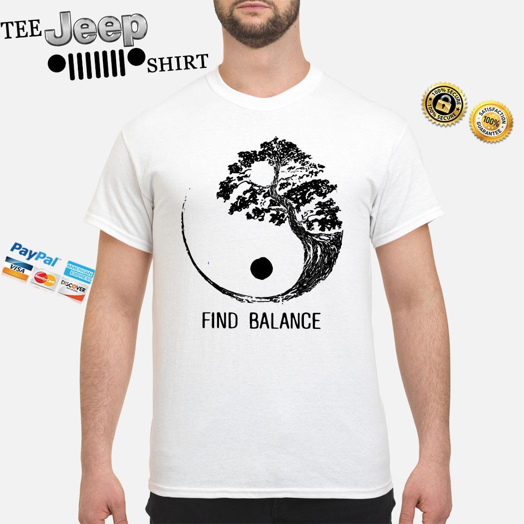 Find Balance Yin Yang Bonsai Tree Japanese Shirt