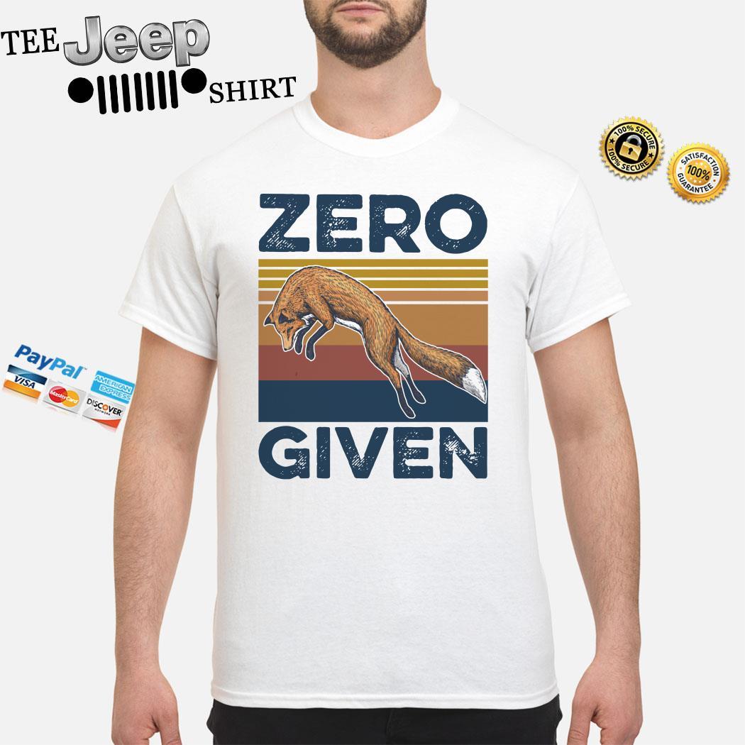 Fox Zero Given Vintage Shirt