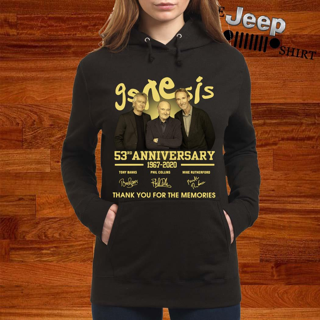 Genesis 53rd Anniversary 1967 2020 Thank You For The Memories Signatures Shirt women-hoodie