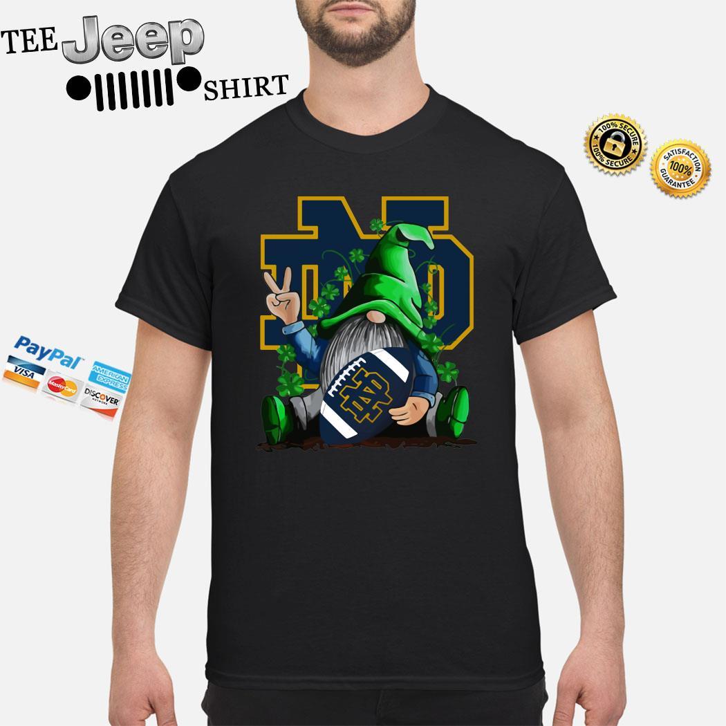 Gnomes Lucky Hug Notre Dame Fighting Irish Shirt