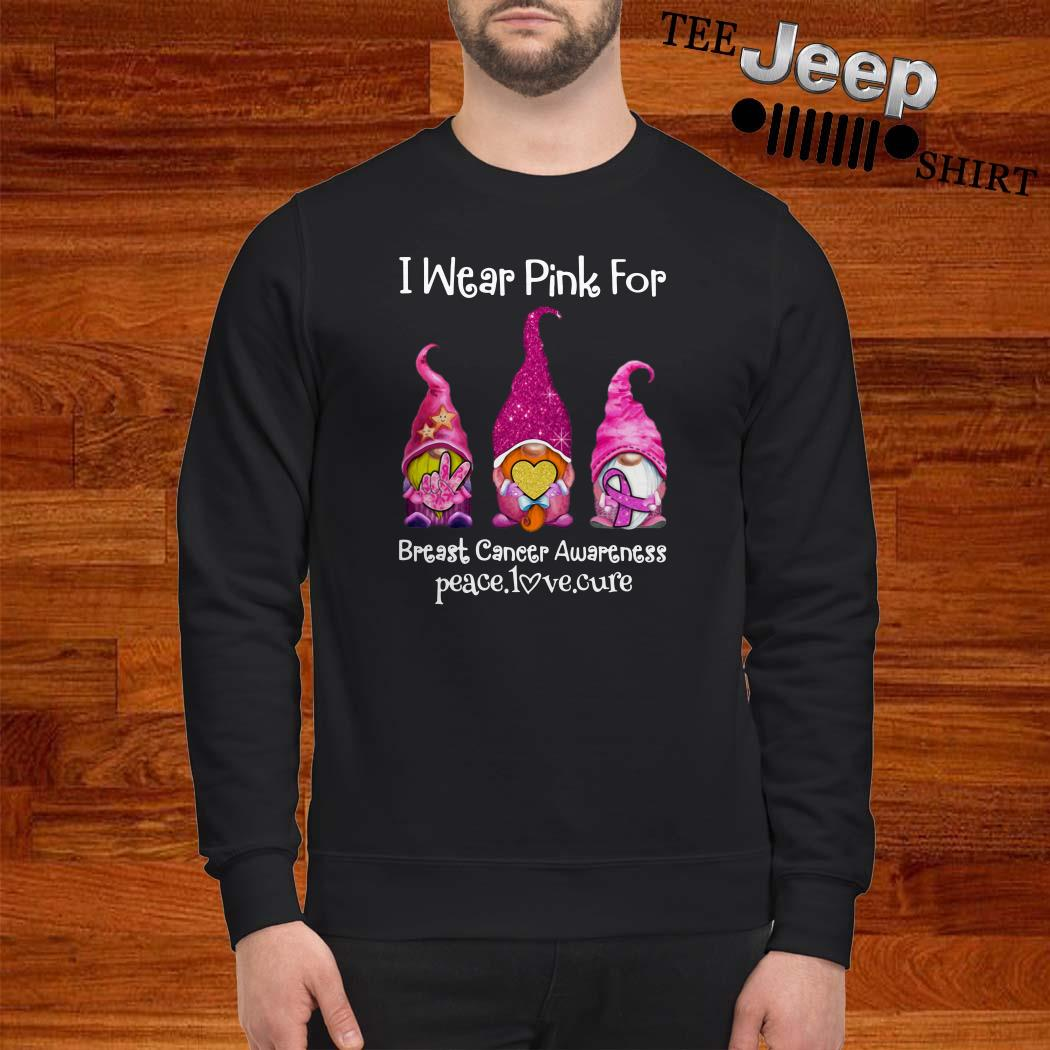 Gnomes I Wear Pink For Breast Cancer Awareness Sweatshirt