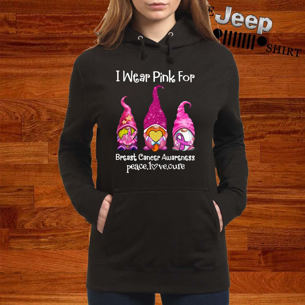 Gnomes I Wear Pink For Breast Cancer Awareness Hoodie