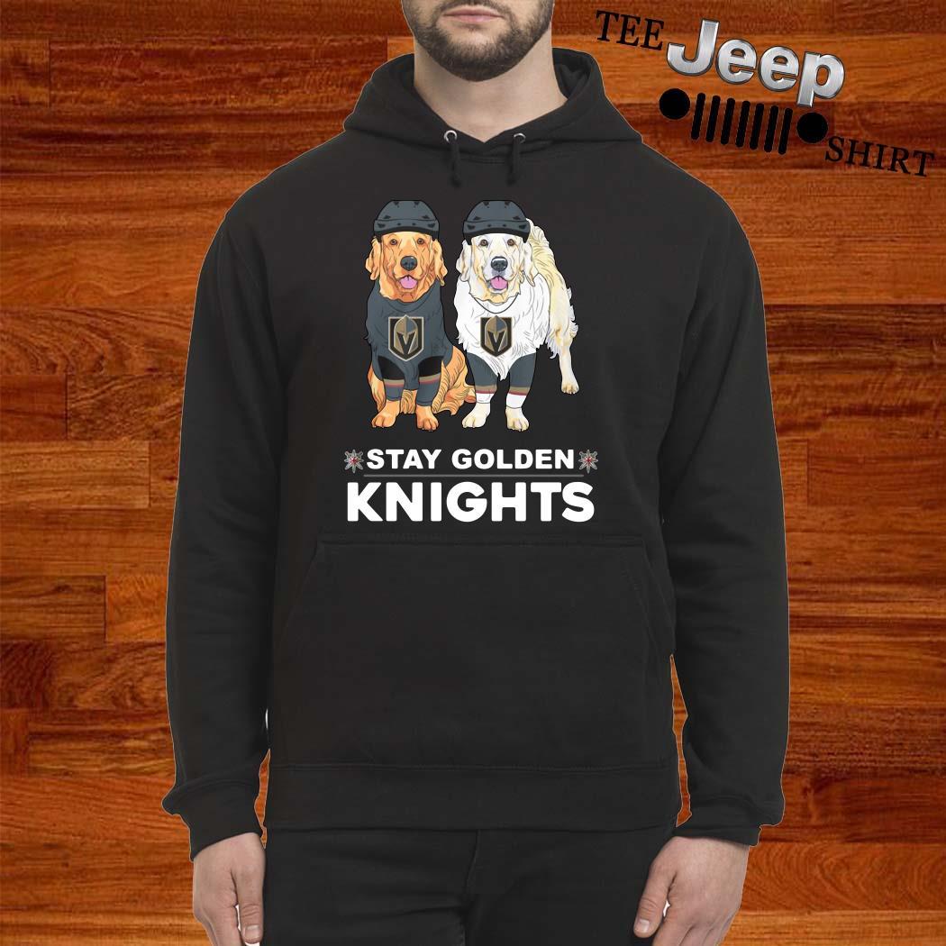 Golden Terrier Stay Golden Knights Hoodie