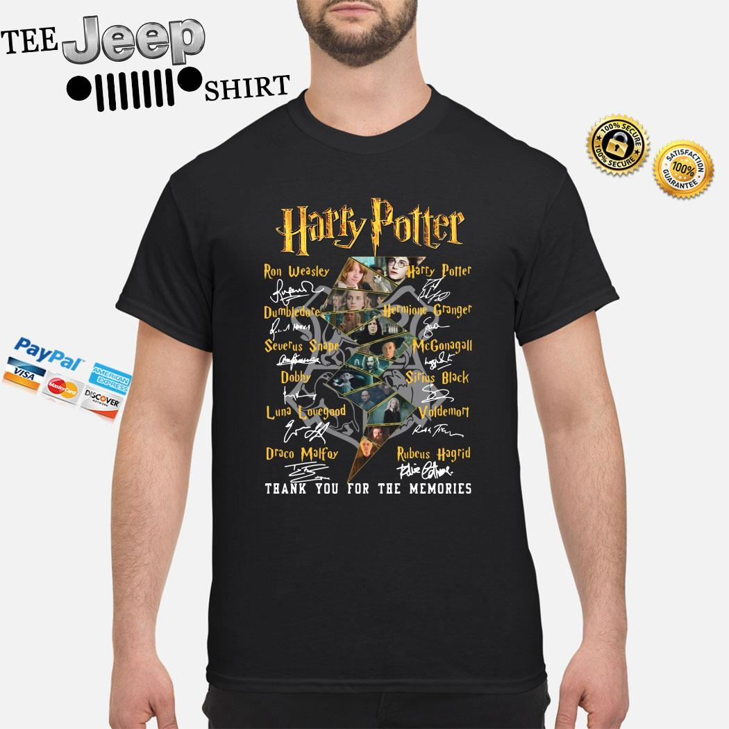 Harry Potter Character Thank You For The Memories Signatures Shirt