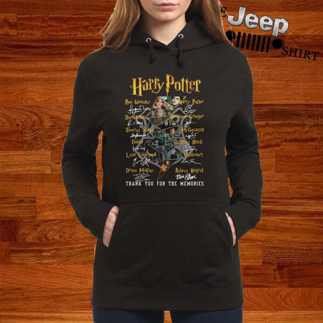 Harry Potter Character Thank You For The Memories Signatures Hoodie