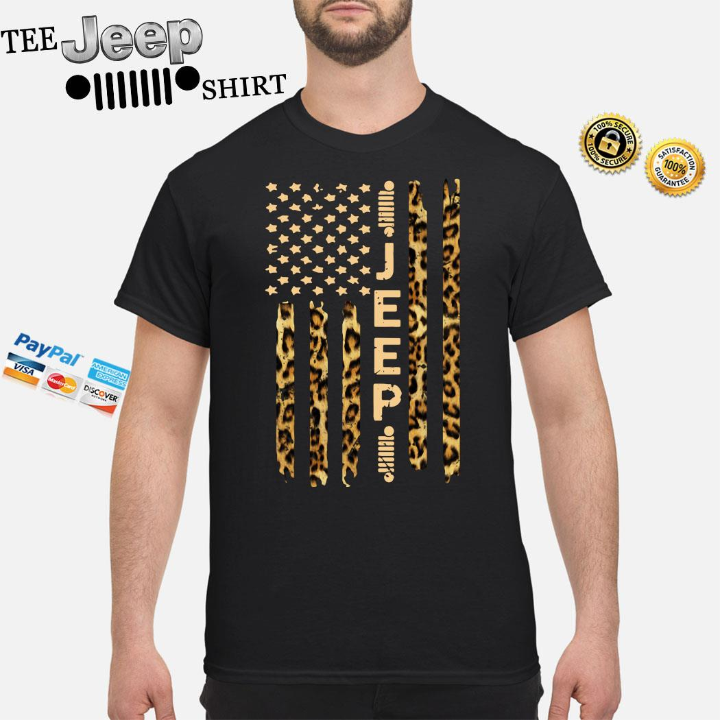 Jeep American Flag Leopard Shirt