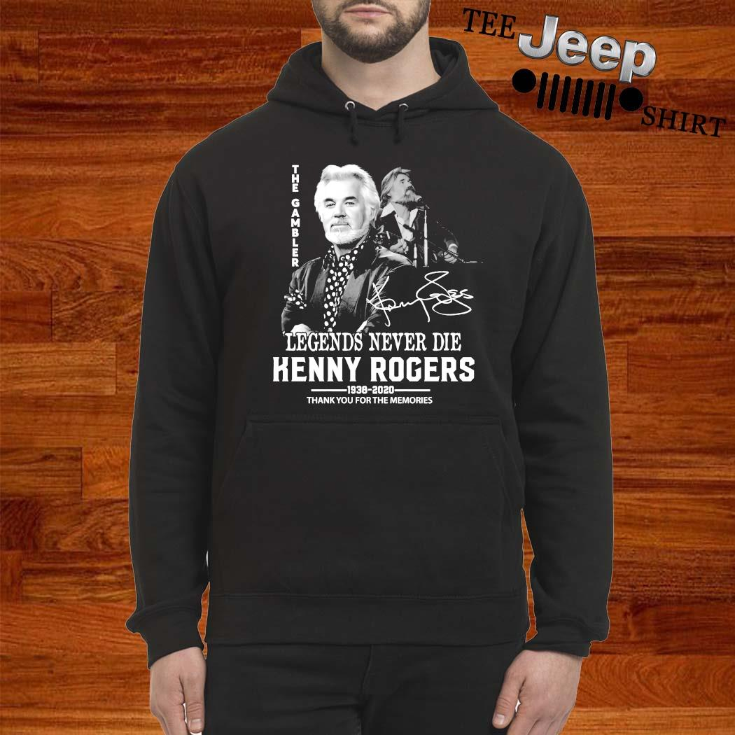 Legends Never Die Kenny Rogers 1938 2020 Signature Shirt hoodie
