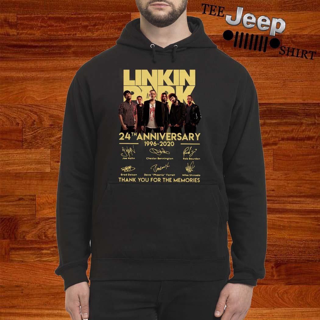 Linkin Park 24th Anniversary 1962 2020 Thank You For The Memories Hoodie