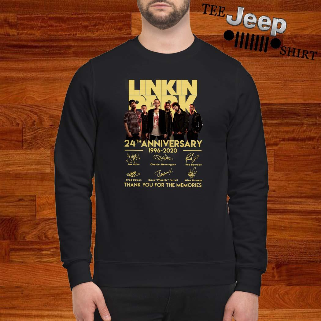 Linkin Park 24th Anniversary 1962 2020 Thank You For The Memories Sweatshirt