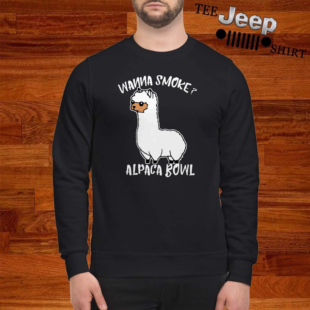 Llama Wanna Smoke Alpaca Bowl Sweatshirt