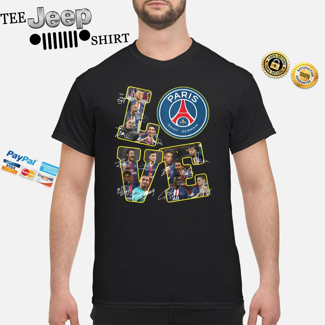 Love Paris Saint Germain Signatures Shirt
