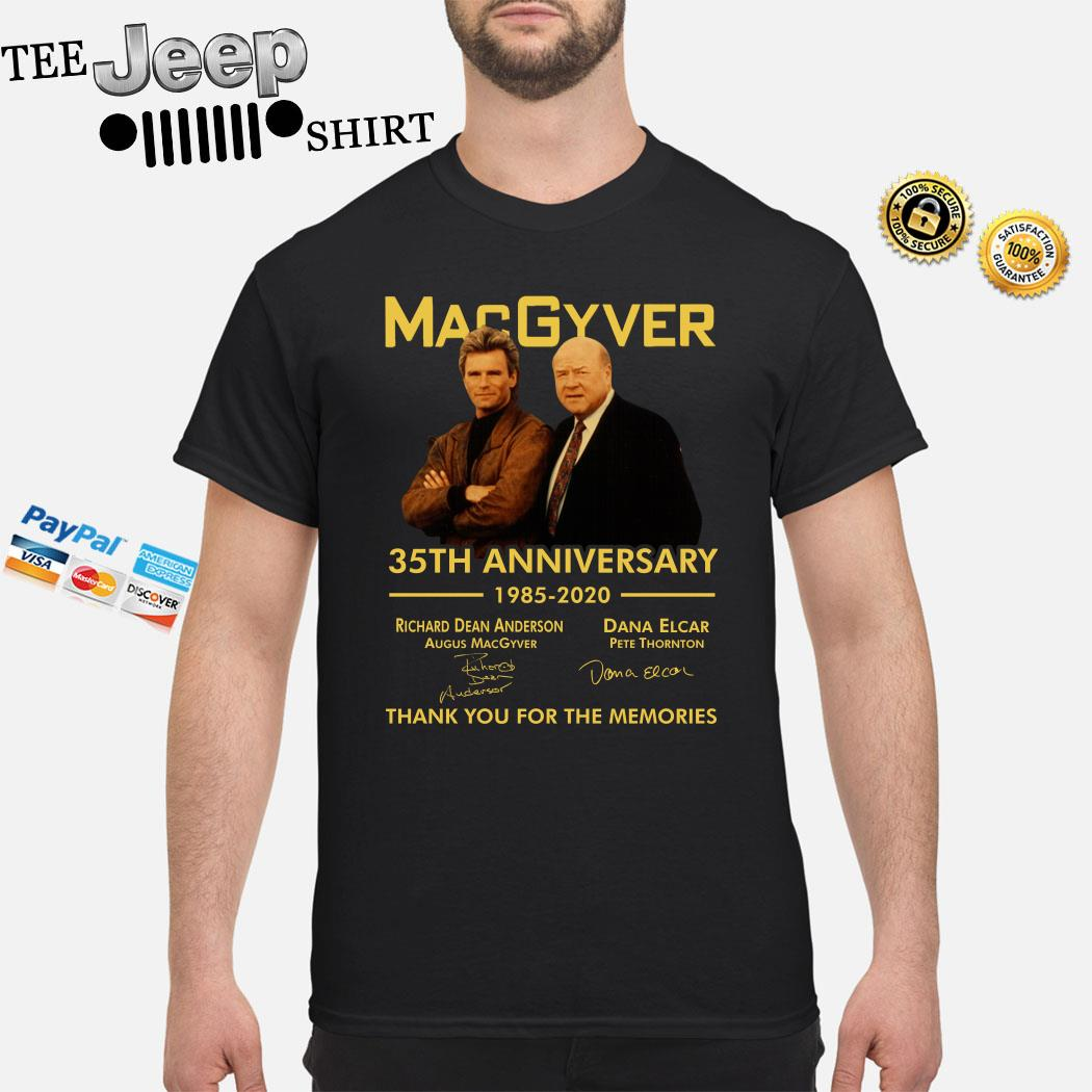 Macgyver 35th Anniversary Thank You For The Memories Signatures Shirt