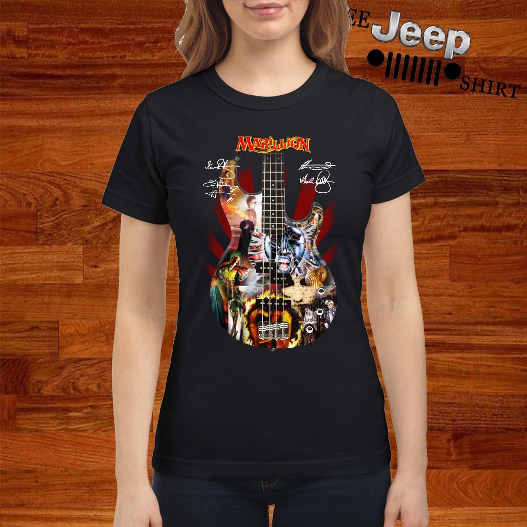 Marillion Guitar Signatures Ladies Shirt