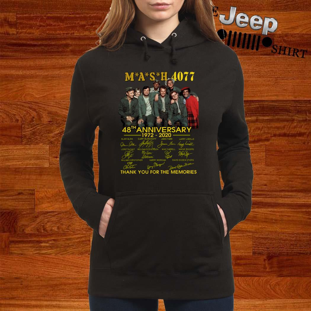 Mash 4077 48th Anniversary 1972 2020 Thank You For The Memories Hoodie