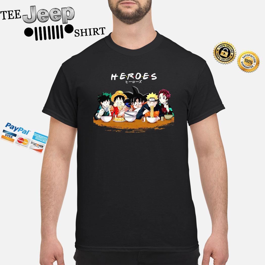 Mashup Heroes Characters Anime Eat Together Shirt