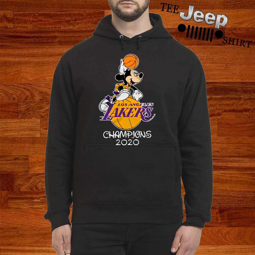 Mickey Mouse Los Angeles Lakers Champions 2020 Hoodie