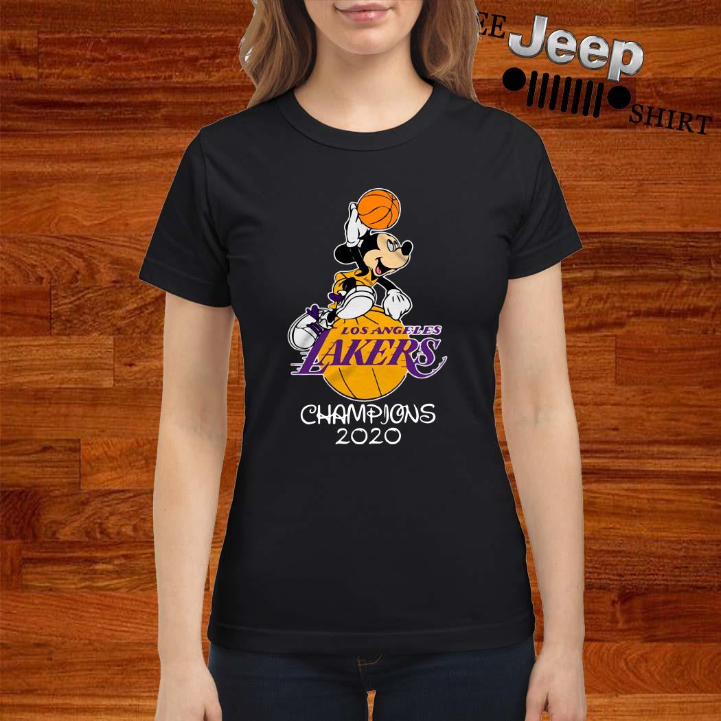 Mickey Mouse Los Angeles Lakers Champions 2020 Ladies Shirt