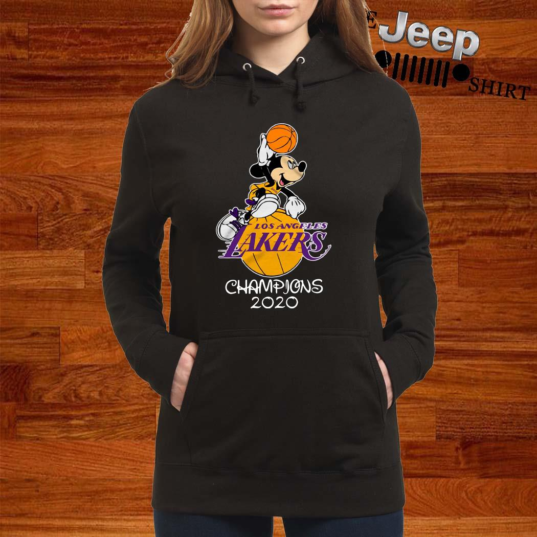 Mickey Mouse Los Angeles Lakers Champions 2020 Shirt ...
