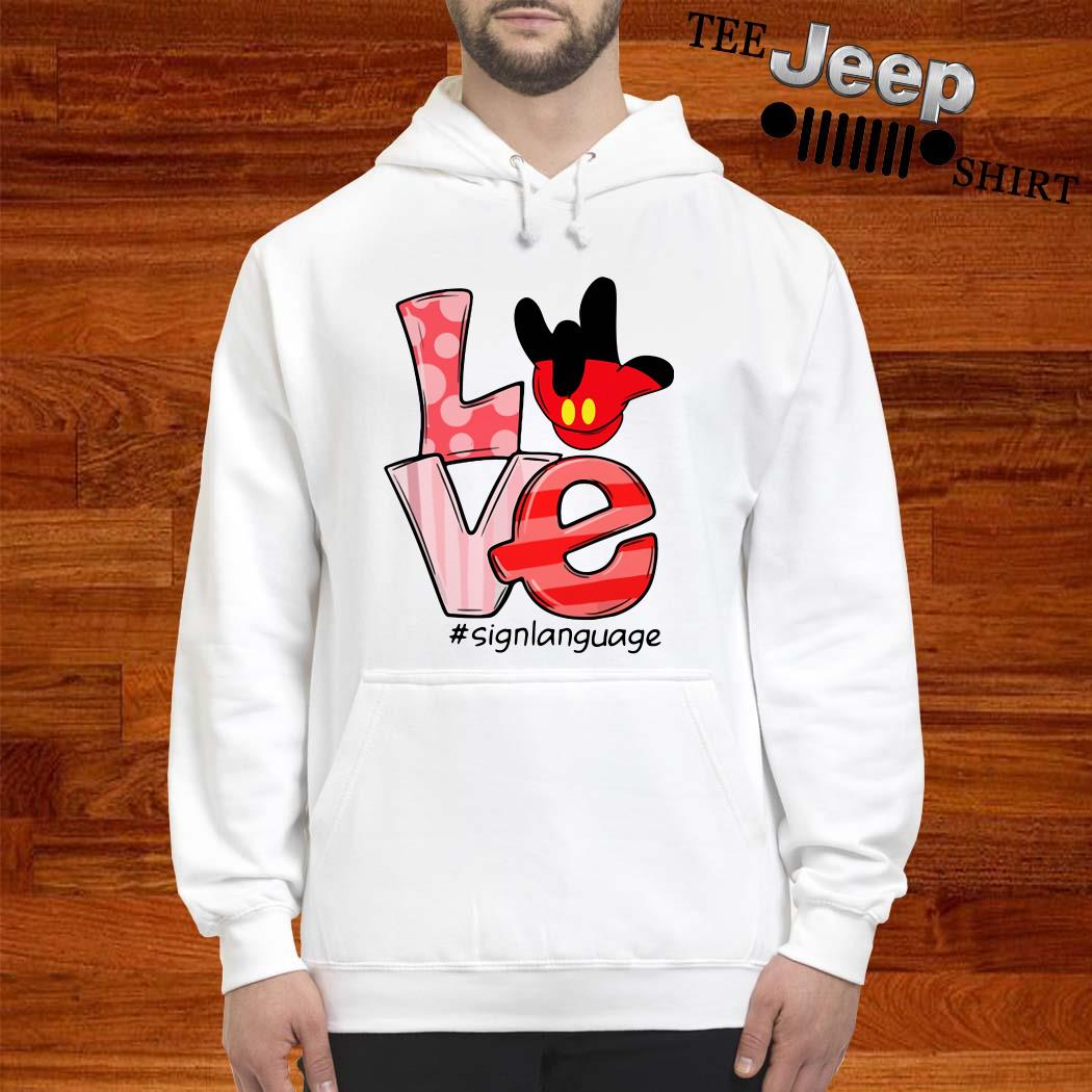 Mickey Mouse Love Signlanguage Hoodie
