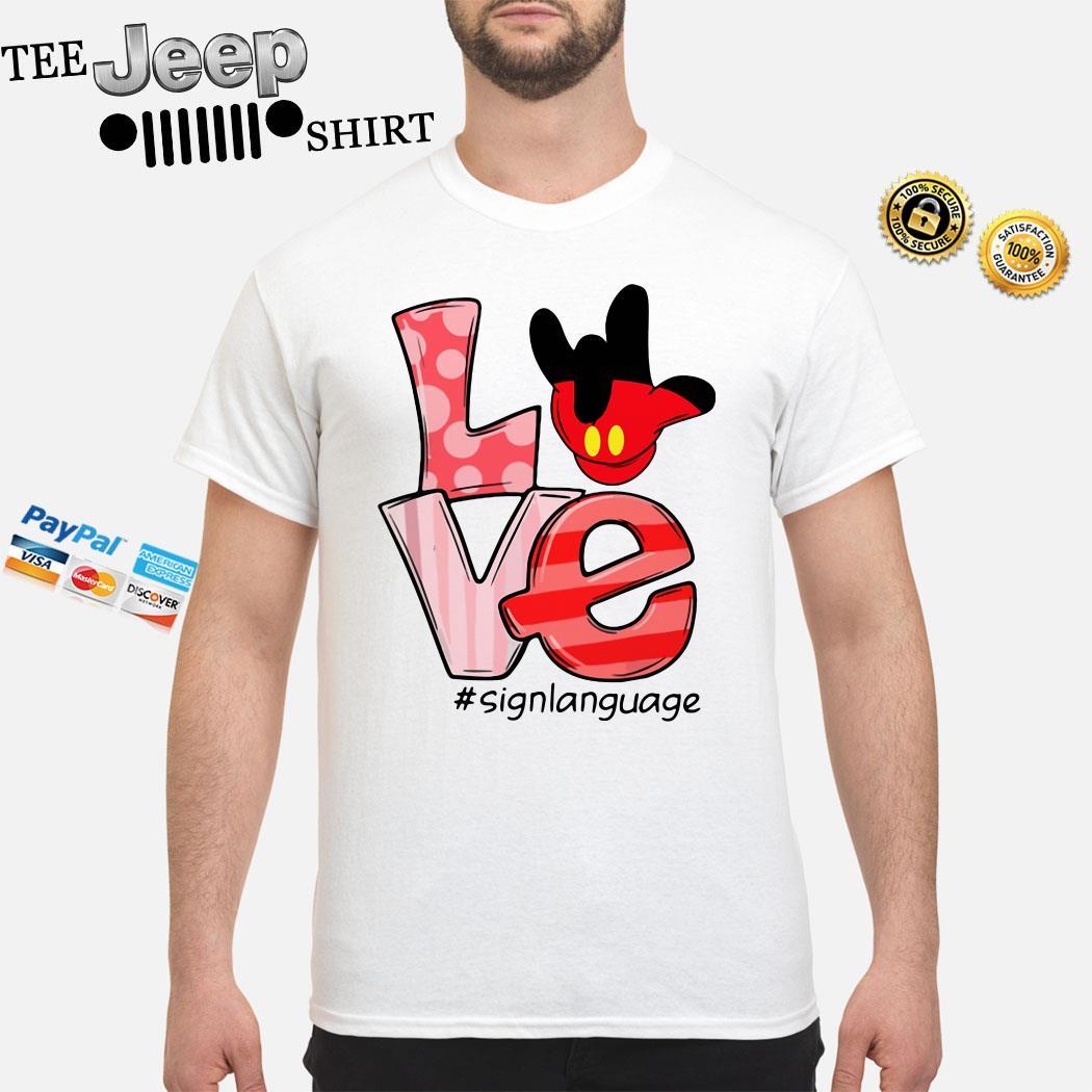 Mickey Mouse Love Signlanguage Shirt