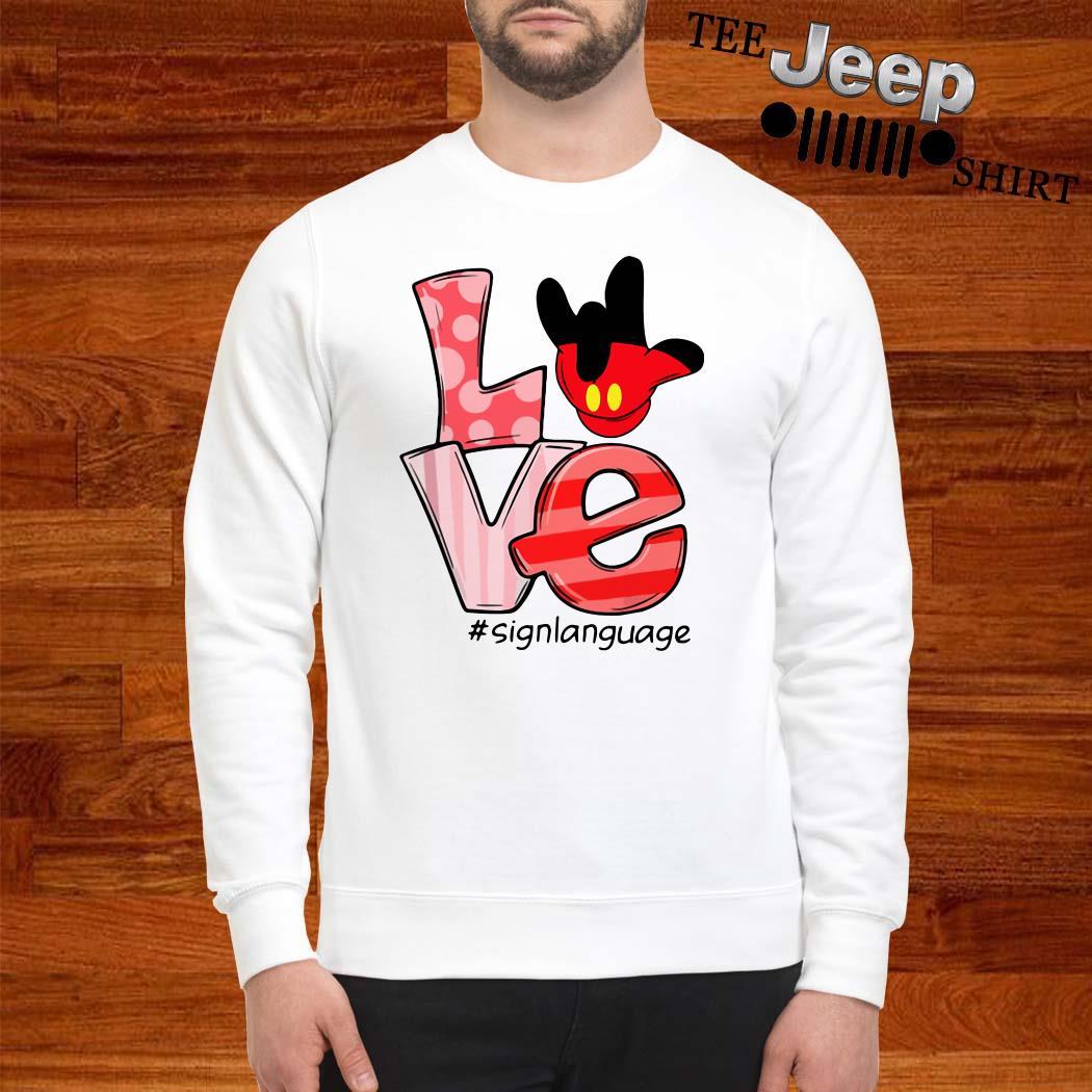 Mickey Mouse Love Signlanguage Sweatshirt