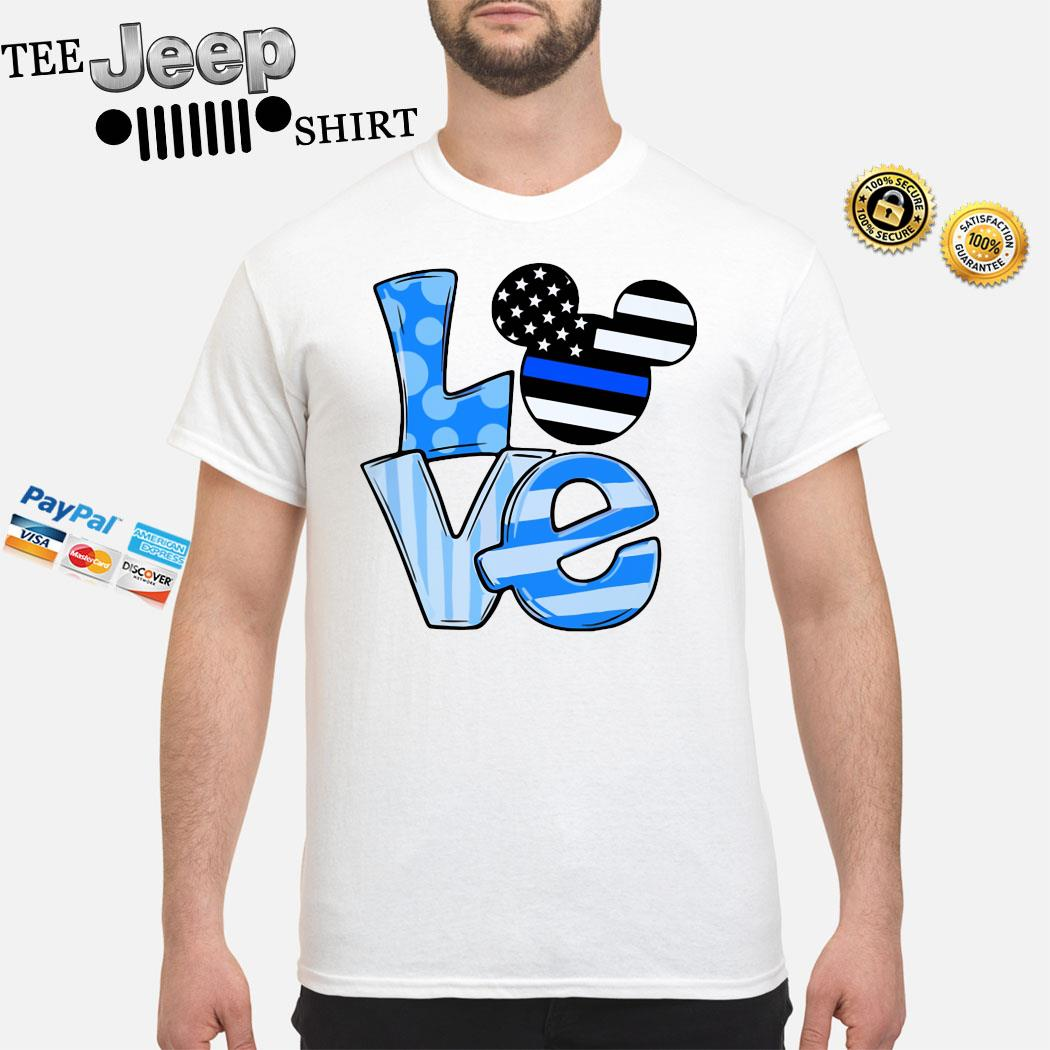 Mickey Mouse Love Thin Blue Line Shirt