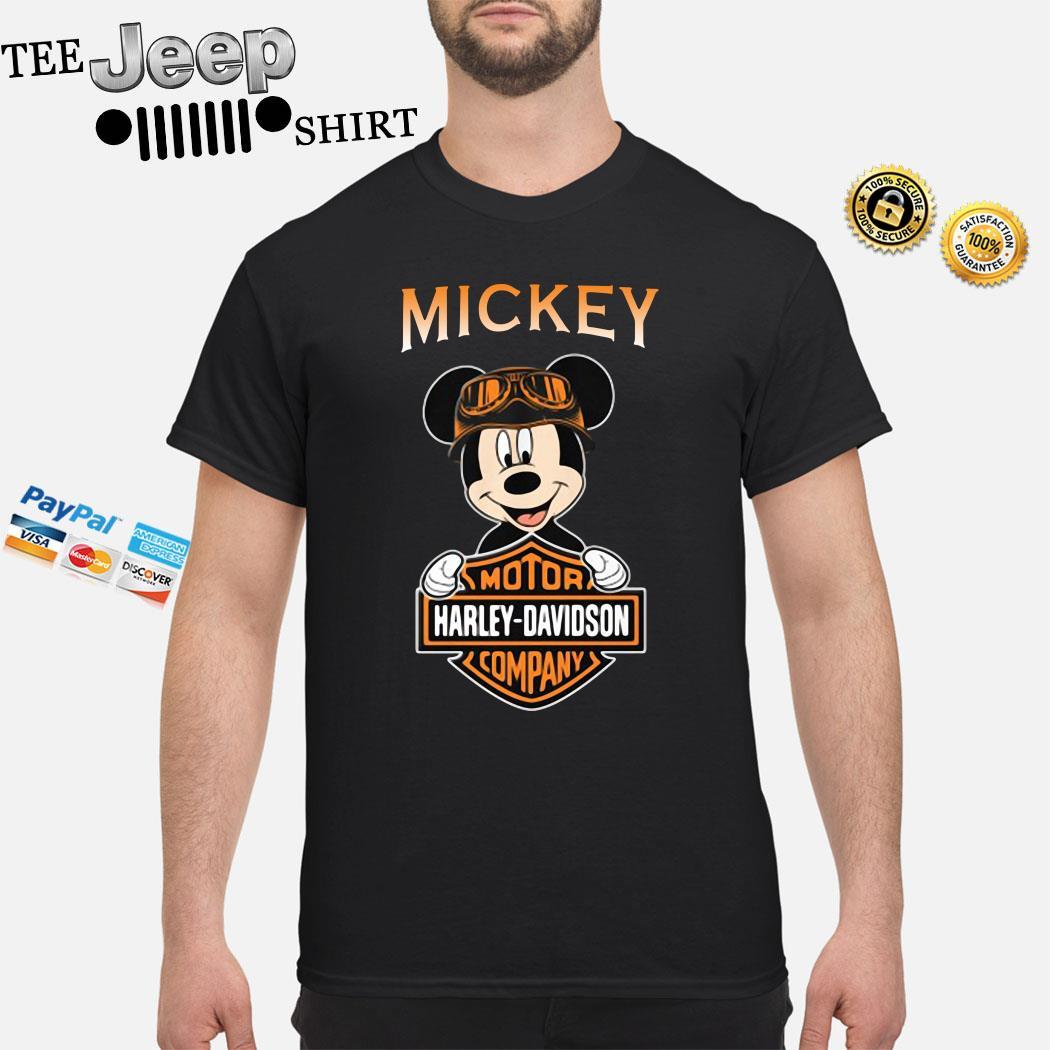 Mickey Mouse Mashup Motor Harley Davidson Company Shirt
