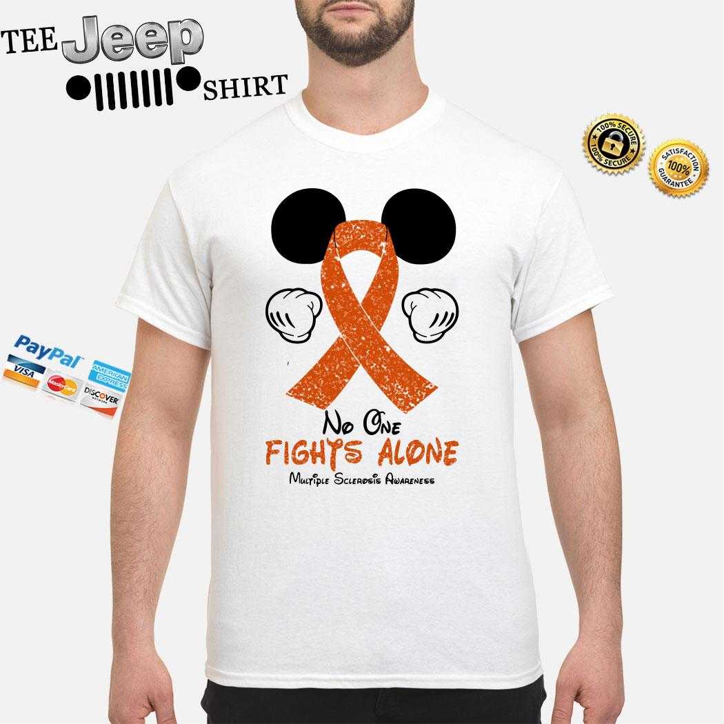 Mickey Mouse No One Fights Alone Multiple Sclerosis Awareness Shirt