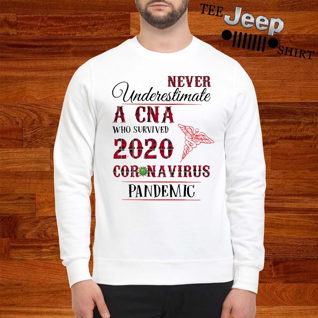 Never Underestimate A CNA Who Survived 2020 Coronavirus Pandemic Shirt sweatshirt