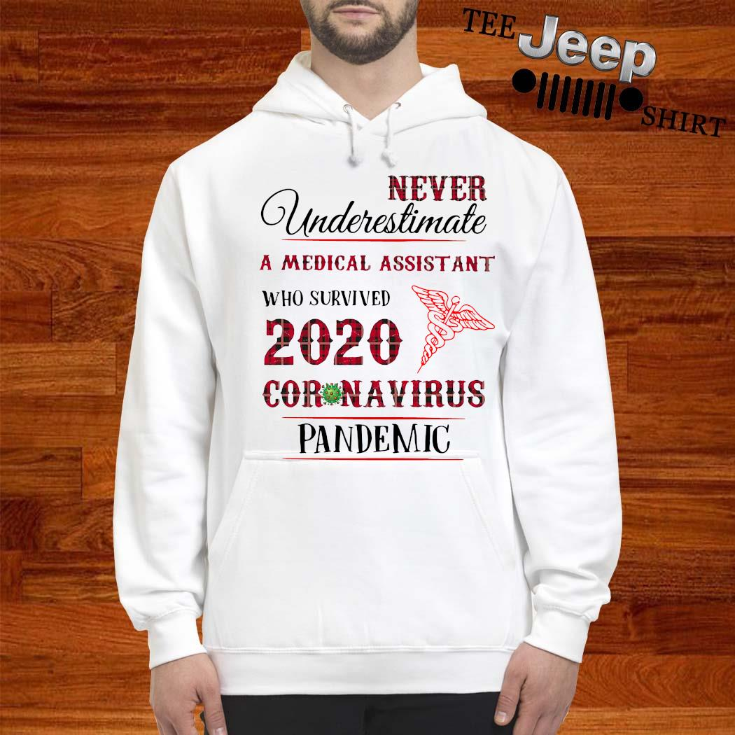 Never Underestimate A Medical Assistant Who Survived 2020 Coronavirus Pandemic Shirt hoodie