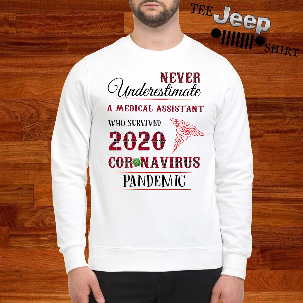 Never Underestimate A Medical Assistant Who Survived 2020 Coronavirus Pandemic Shirt sweatshirt