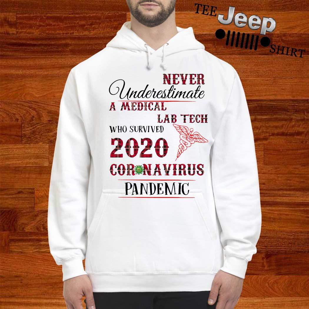 Never Underestimate A Medical Lab Tech Who Survived 2020 Coronavirus Pandemic Shirt hoodie