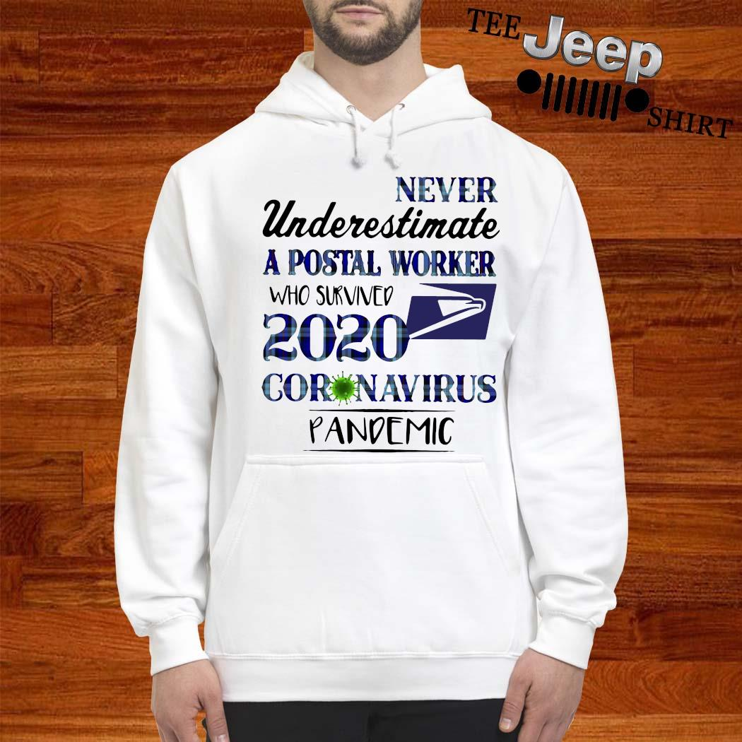 Never Underestimate A Postal Worker Who Survived 2020 Coronavirus Pandemic Shirt hoodie