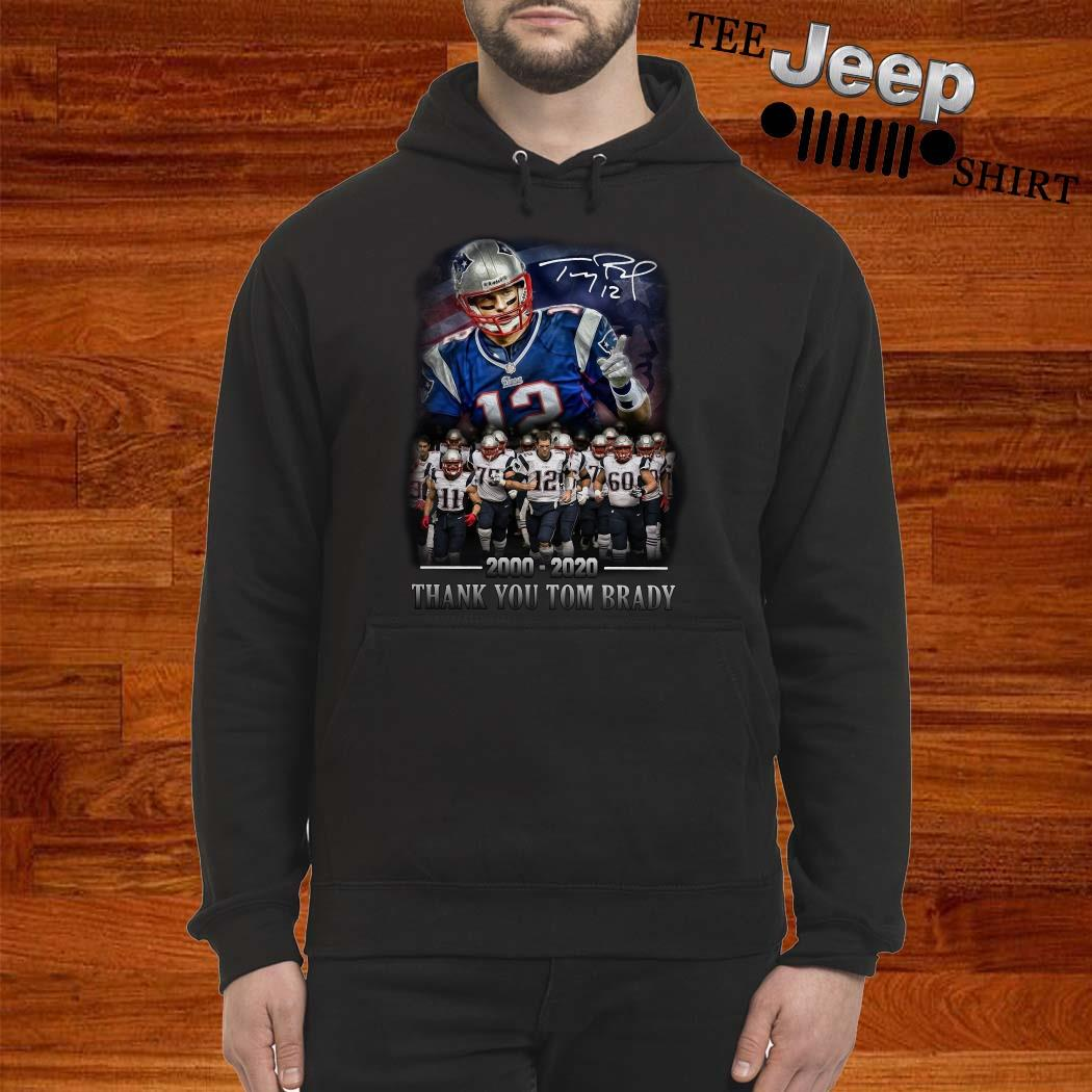 New England Patriots 2000-2020 Thank You Tom Brady Signature Hoodie
