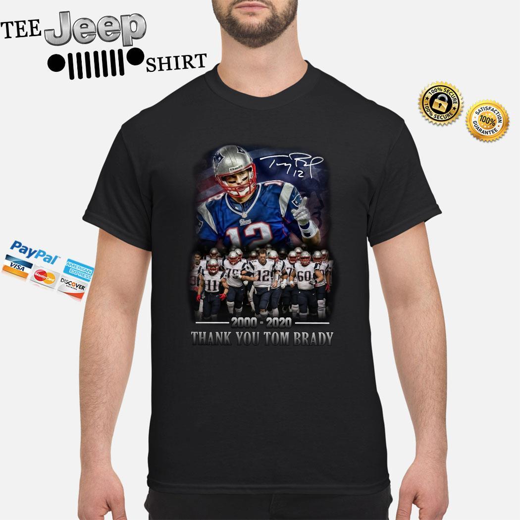 New England Patriots 2000-2020 Thank You Tom Brady Signature Shirt