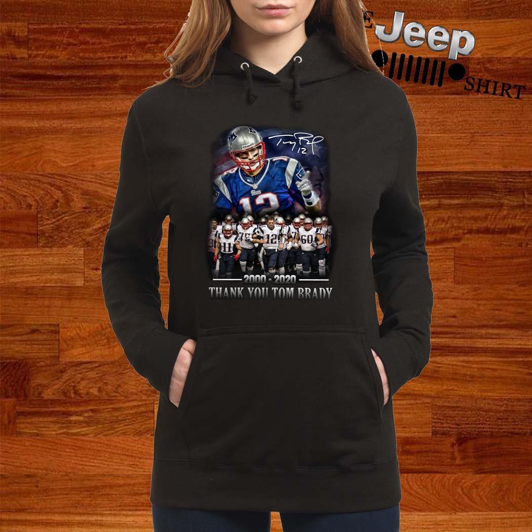 New England Patriots 2000-2020 Thank You Tom Brady Signature Women Hoodie