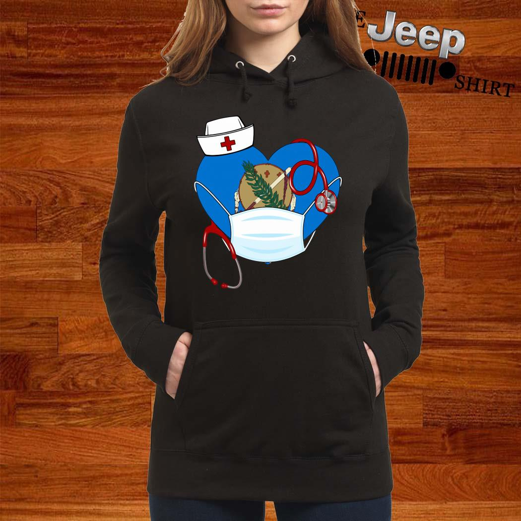 Oklahoma Heart Mask Nurse Shirt women-hoodie