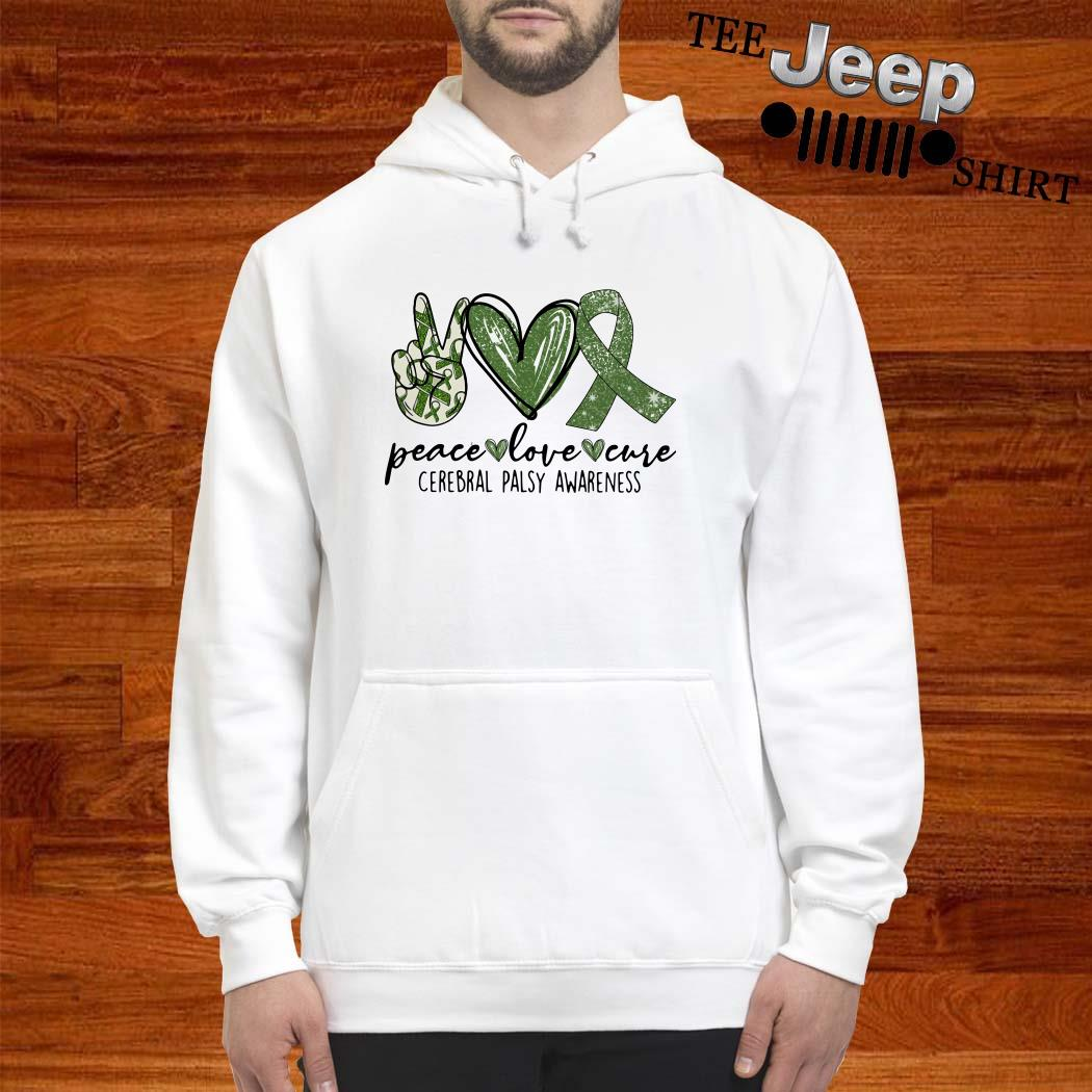 Peace Love Cure Cerebral Palsy Awareness Hoodie