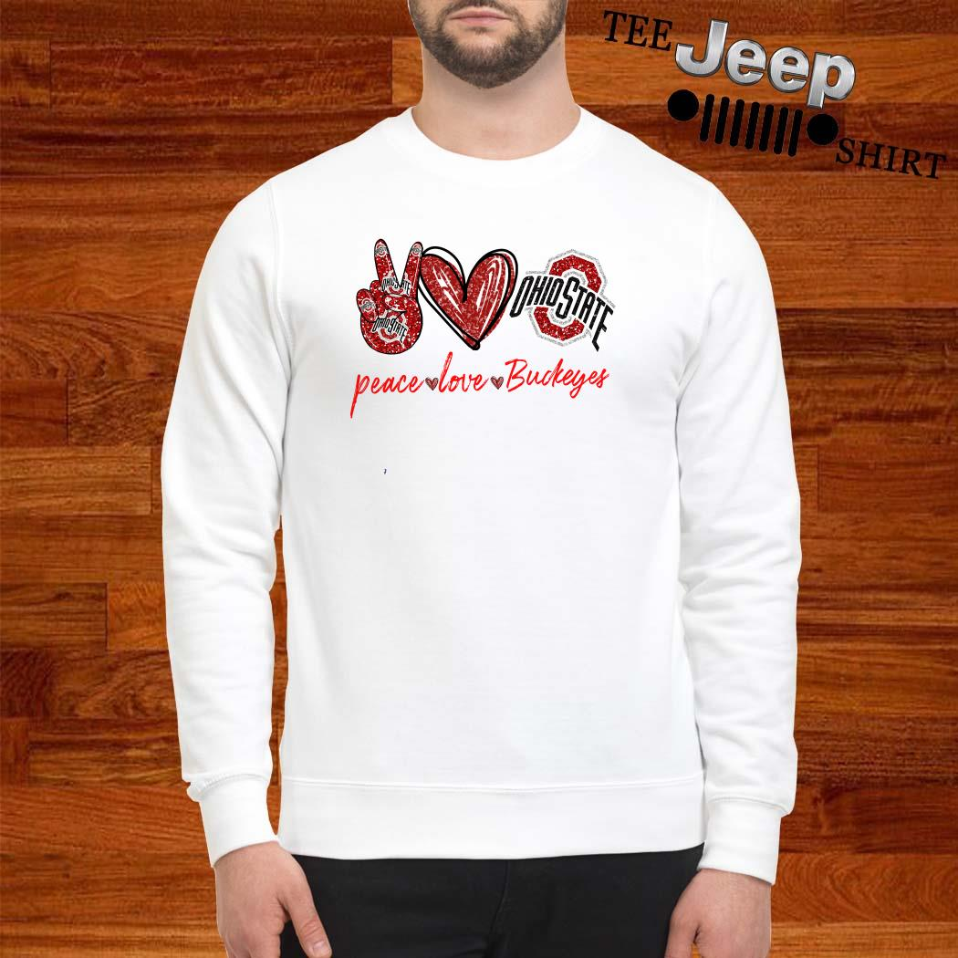 Peace Love Ohio State Buckeyes Sweatshirt