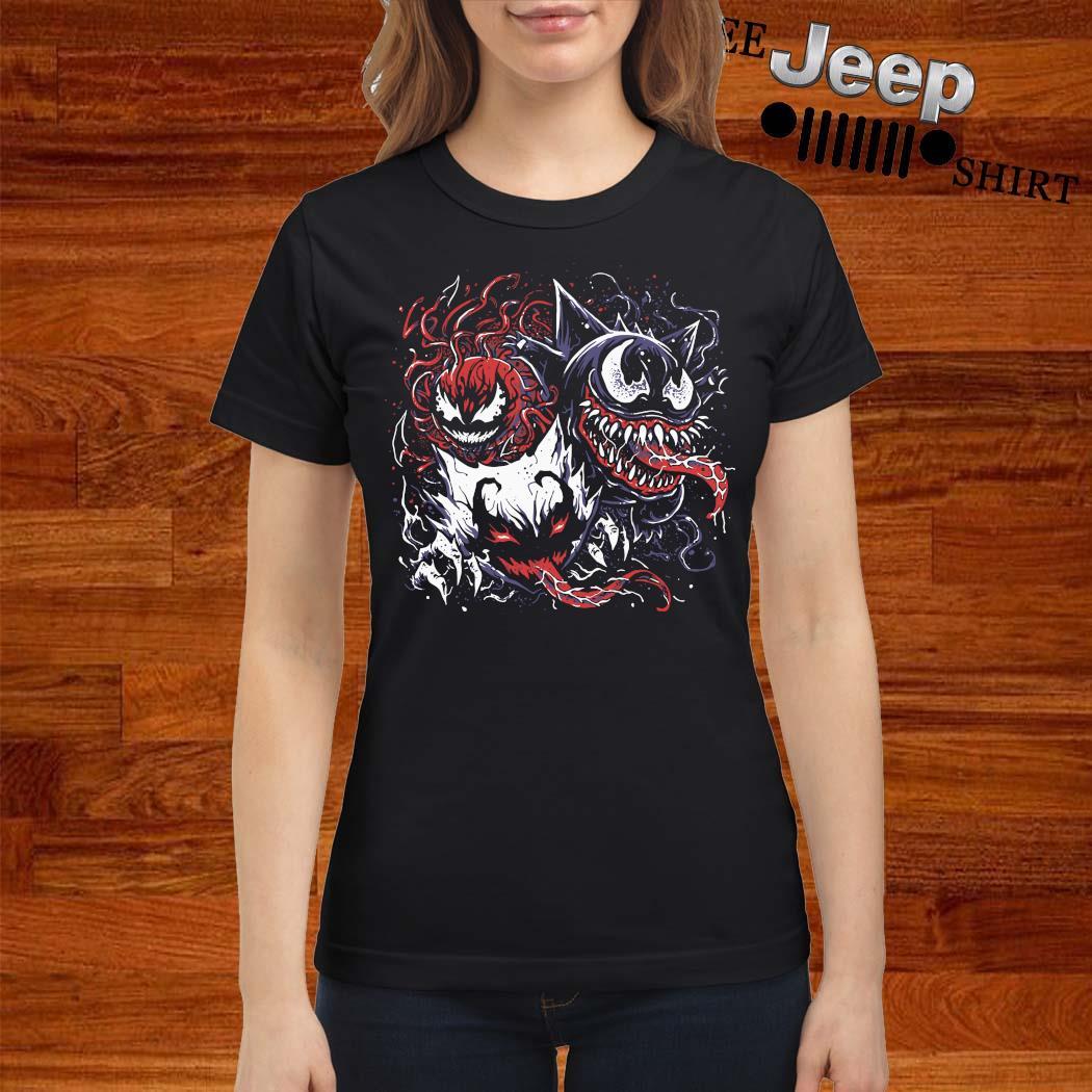 Pokemon Mixed With Venom Shirt ladies-shirt