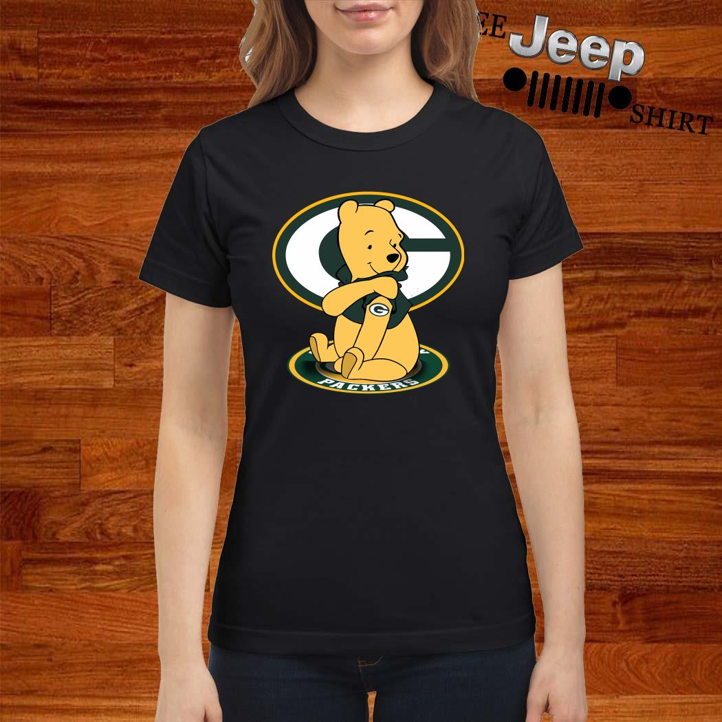 Pooh Green Bay Packers Tattoo Ladies Shirt