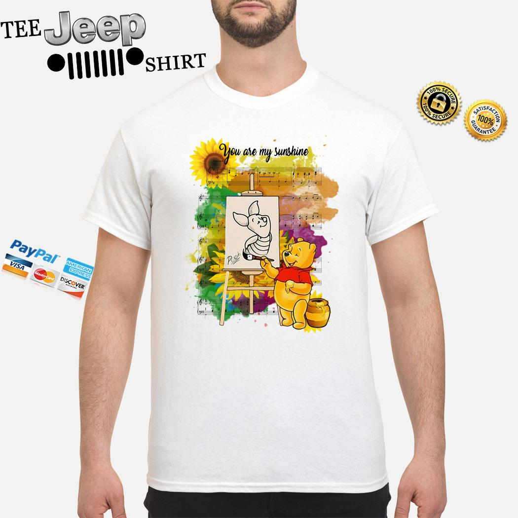 Pooh You Are My Sunshine Sheet Music Shirt